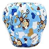 sunnymi Für 0-3 Jahre Baby Jungen Schwimmbekleidung Eule Tier Dicht Schwimmhose Unisex (13, for 0-3T baby)