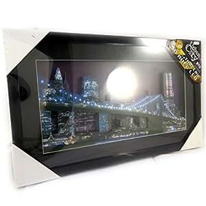 Londres New York Paris [L7835] - Tableau lumineux 'NYC Bridge' 3D led