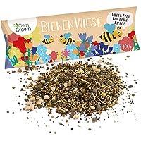 Bienenwiese Blumenmischung: 100g Premium Bienen Saatgut für bunte Bienenweide, Bienen und Hummelmagnet - bienenfreundliche Blumensamen Mischung ein- und mehrjährig - Blumenwiese Samen von OwnGrown