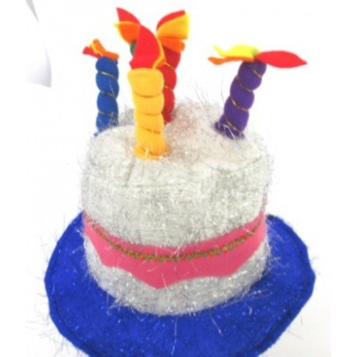 Birthday Cake Hat with Candles Sil -