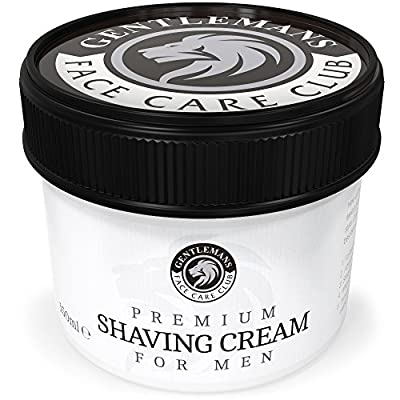 Shaving Cream - Luxury Shave Cream From Gentlemans Face Care Club - Large 90 Day Supply 150ml Pot + 100% Money Back Guarantee by Gentlemans Face Care Club
