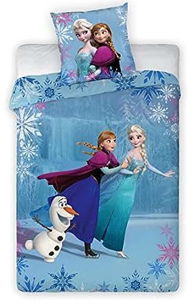 La Reine des neiges - Parure de lit Anna, Elsa & Olaf on Ice 140 x 200 cm