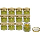 Pure Source India Scented Mini Jar Candle 30 Gram Each Set Of 12 Pcs Tea Tree Fragrance