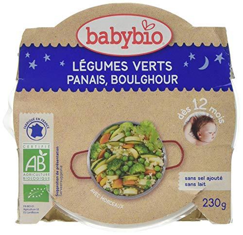 Babybio Assiette Légumes Verts Panais du Val de Loire Boulghour 230 g - Lot de 5