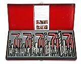 FreeTec 131-tlg Gewinde Reparatur Satz Bohrer Sleeves Helicoil Auto Motor M5 M6 M8 M10 M12 Gewindehüls