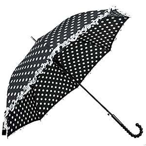 Susino - Parapluie The Geo avec froufrous - motif pois - femme - noir