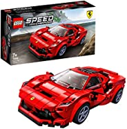 LEGO 76895 Speed Champions Ferrari F8 Tributo   Racer Toy, with Racing Driver Minifigure, Race Cars Building S