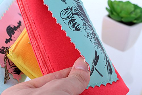 Eudola Trousse Sac à Stylo Mignon Filles Créatif Sac de Papeterie Sac de Rangement Cosmétique pour Enfants Adolescents Étudiants Rose