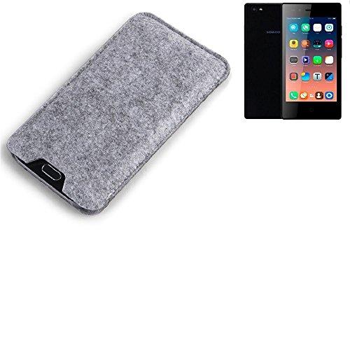 K-S-Trade Filz Schutz Hülle für Siswoo A5 Schutzhülle Filztasche Filz Tasche Case Sleeve Handyhülle Filzhülle grau