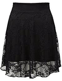 Style Divaa ® Ladies Floral Lace Skater Skirt