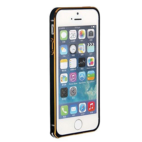 RE:CRON® Bumper Handycase Rahmen für Apple IPhone 5 und 5S - Aluminium Silber Schwarz - Gold - Metallic