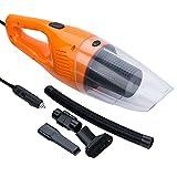 FREESOO 2 Usi Aspirapolvere per Auto, Led Portatile Aspirapolvere Uso Umido e Secco con HEPA Filtro Lavabile Senza Odore DC 12V 106W Arancione