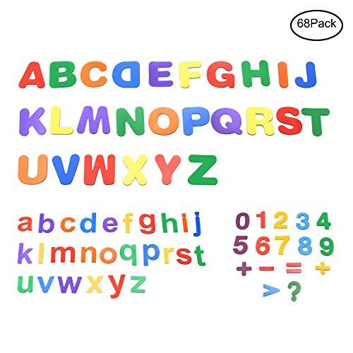 Stark Magnetische Buchstaben und Zahlen für Kinder ungiftig Educational Alphabet für Klassenzimmer 68Teile–pawhits