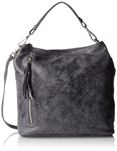 Chicca Borse Damen 80054 Shopper, 34 x 29 x 14 cm Grau (Grigio)