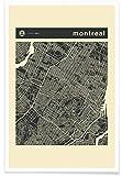 """JUNIQE® Affiche 30x45cm Villes Cartes de villes - Design """"City Maps Series 3 Series 3 - Montreal"""" (Format : Portrait) - Poster, Tirages d'art & Tableaux par des artistes indépendants créé par Jazzberry Blue"""