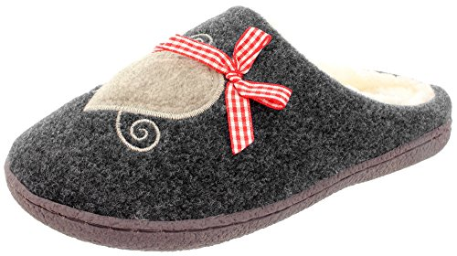 MIK Funshopping - Pantofole Donna Grigio