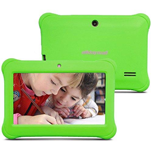 Preisvergleich Produktbild Alldaymall A88SK 7 Zoll Kinder Tablet PC Quad Core, Android 4.4 KitKat, 1GB RAM, 8GB NAND Flash mit Doppel Kamera und Wifi, Tablet für Kids mit Spezialangebot, Grün