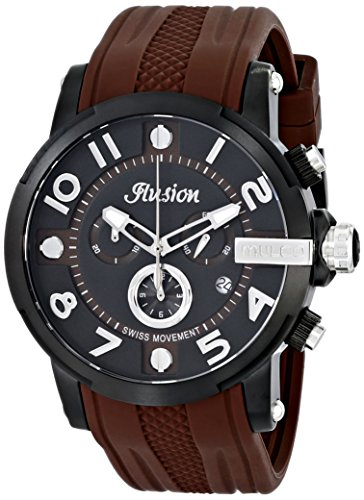 MULCO Unisex MW3-12239-035 Ilusion Roll Analog Display Swiss Quartz Brown Montre