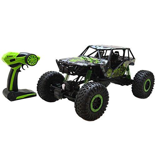 Preisvergleich Produktbild 2,4 GHz Fernsteuerung Auto 4WD RC Rock Crawler Monstertruck 4WD 1:18 Ferngesteuertes Race Truck RTR Off-Road Fahrzeug Buggy (Grün)