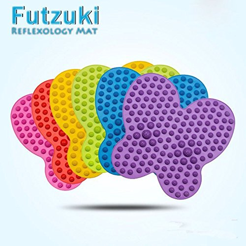 Zooarts Futzuki Reflexology Fussmassage-Matte Schmerzen- und Druckentlastend, blau, L