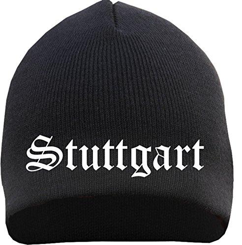 STUTTGART Beanie - bestickt - Mütze Einheitsgröße Schwarz