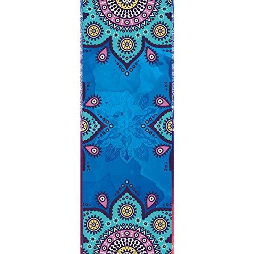 Cayuan Mikrofaser Yoga Handtuch für Yogamatte Drucken Rutschfest und Leicht Yogatuch Saugfähig Schnelles Trocknen