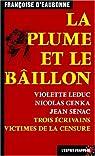 La Plume et le Baillon par Eaubonne