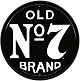 Memorabilia Tin Sign featuring The Old No7 Brand Jack Daniels Logo 28x28cm