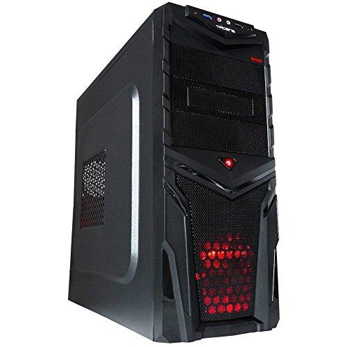 Mars Gaming MC2V2 - Caja de ordenador gaming (semitorre, ventilador frontal 12cm incluido, micro ATX, 7 slots expansión, VGA hasta 250 mm, capacidad 3 ventiladores, USB 3.0, audio+micrófono)