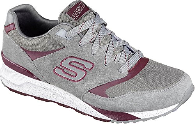 Skechers Men's OG 90 Sneaker Gray/Burgundy US 12 M