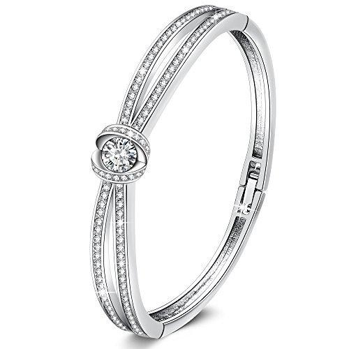 GEORGE SMITH ❤️Begegnung Liebe❤️ silberarmband damen mit Swarovski Kristallen und Geschenkbox Frauen Schmuck Hochzeit Jubiläums Geschenke für Frau