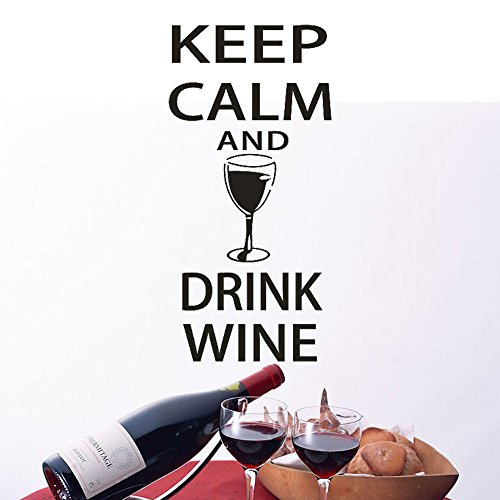 Wein-wand-dekor (Fuibo Wand Kunst Dekor Wand-Aufkleber-Halten Ruhig und Trinken Wein-Lustige Bar Pub)