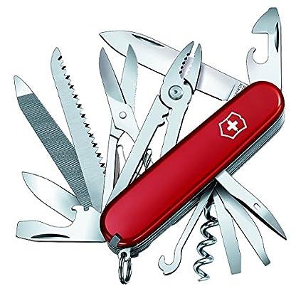 Victorinox Handyman Swiss Army Pocket Knife, Medium, Multi Tool, 24 Functions, Large Blade, Metal Saw, Red 1