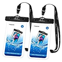 MoKo Waterproof Phone Pouch [2 Pack], Universal Waterproof Phone Case Dry Bag with Neck Strap for iPhone 11/11 Pro/11 Pro Max/X/Xs/Xr//Xs Max, 8/7/6s Plus, Samsung Galaxy S10/S9/S8 Plus, Note 10/9/8
