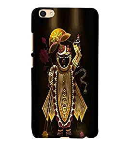 For Vivo Y55L Lord Krishan, Black, Banke Bihari Lal, Govind, Printed Designer Back Case Cover By CHAPLOOS