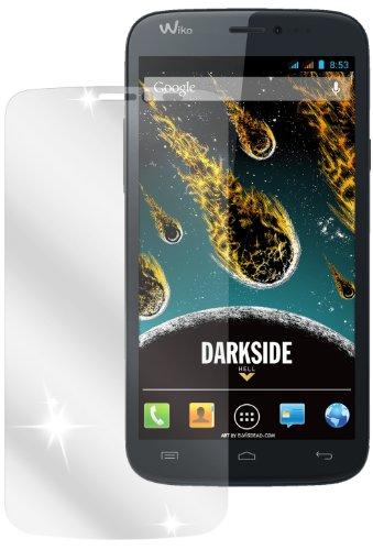 dipos I 2X Schutzfolie klar passend für Wiko Darkside Folie Displayschutzfolie