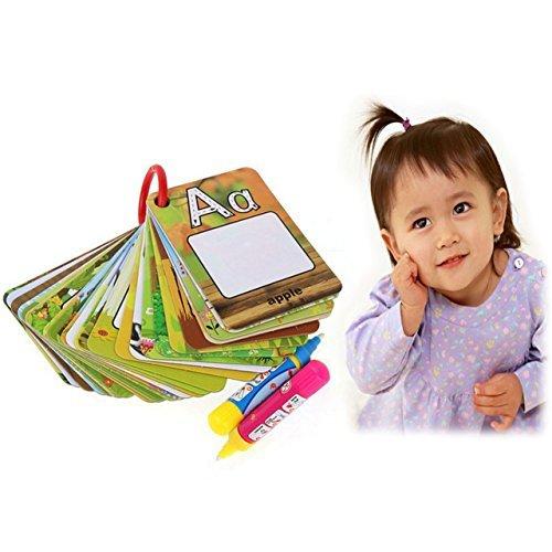 Itian 26 Lettres A-Z Doodle Board Water Drawing Book Cadeau de Jouet pour bébé