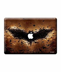 Elton Batman Comics Apple Mac-book Air 13 inch 3M Skin with Apple logo cut