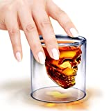 #2: Skull Shotglass Crystal Skull Head Pirate Shot Glass Drink Cocktail Beer Cup By Flintstop
