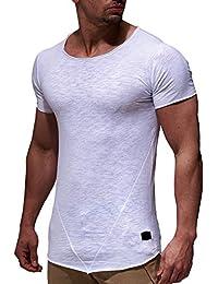LEIF NELSON Herren oversize T-Shirt Rundhals Basic Shirt LN6281