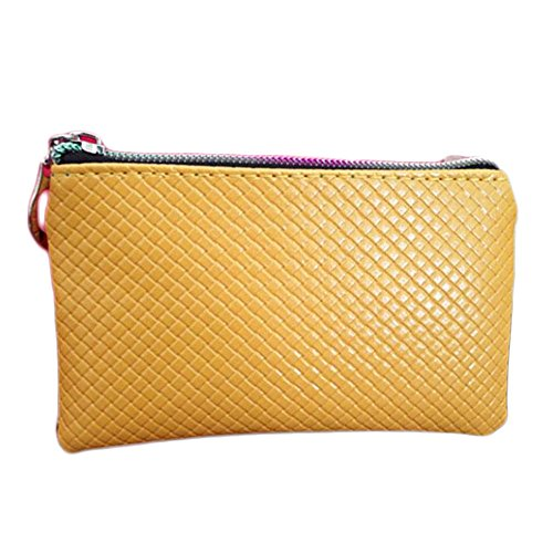 wlgreatsp Frauen Leder Münzenwechsel Geldbörsen Reißverschluss Umschlag Wallet Clutch lange Handtasche Tasche (Clutch Lange Handtasche Wallet)
