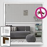 Insektenschutz Alu Rollo System Comfort für Fenster Fliegengitter Alu-Bausatz Fensterrollo mit Fiberglas Gewebe individuell kürzbar Insektenschutzrollo Größe und Farbe wählbar, Farbe:Weiß, Größe:130 x 160 cm