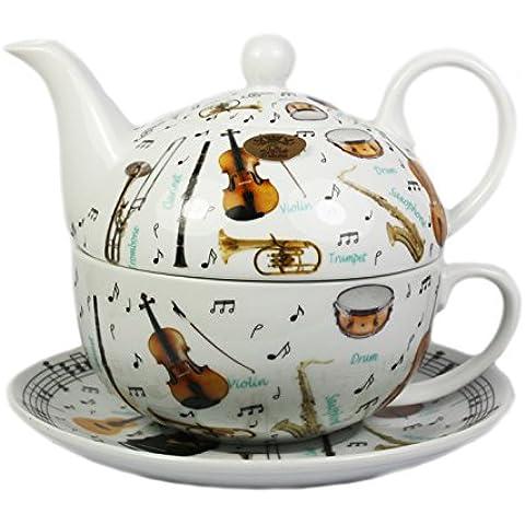 Making Musica porcellana Tea for one Set