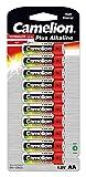 Camelion 11001006 Plus Alkaline Batterie, LR6, Mignon, AA, 10er-Pack