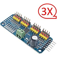 3 Pcs PCA9685 16-Channel 12-bit PWM Servo Driver for Arduino Raspberry Pi IIC interface Servo Shield