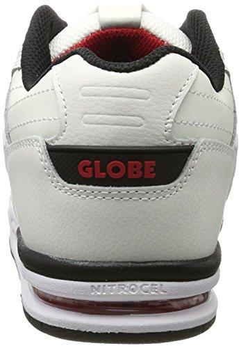 Globe Fury, Scarpe da Skateboard Uomo Multicolore (White/black/red)