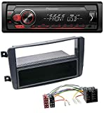 caraudio24 Pioneer MVH-S110UB AUX MP3 USB 1DIN Autoradio für Mercedes C-Klasse W203 CLK W209 Vito Viano G