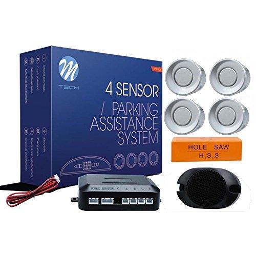 M-Tech CP7S Sensor de aparcamiento CP7 buzzer, Plata