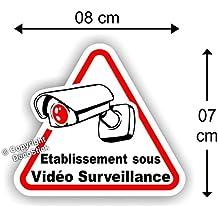 """Sticker Autocollant """" Etablissement sous Vidéo Surveillance """" 8 cm"""