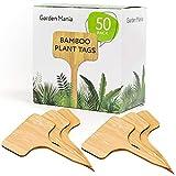50 Pack Étiquettes pour Plantes en Bambou Naturel - Écologique & Biodégradable - Étiquettes pour...